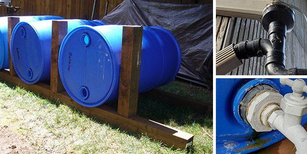 Easy DIY 165 Gallon Rain Harvester